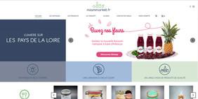 Page d'accueil du Site internet Miammarket.fr
