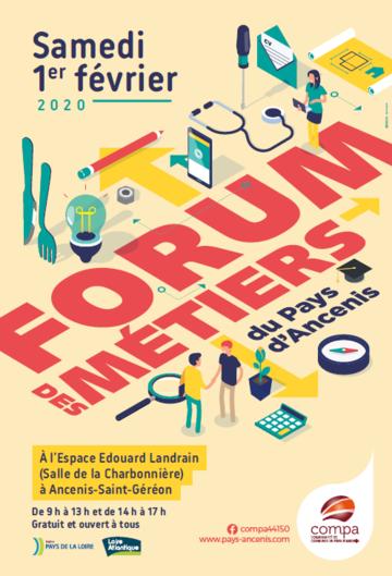 affiche Forum des métiers du Pays d'Ancenis 2020