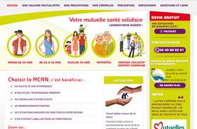 page d'accueil du Site internet Mutuelle des Cheminots de la Région Nantaise