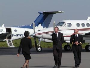 équipage d'un avion d'affaires