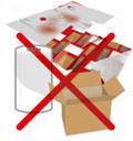 Essuie-mains,     Papiers spéciaux (cadeaux, calques, crêpons),     Papiers souillés ou humides, Nappes, Cartons