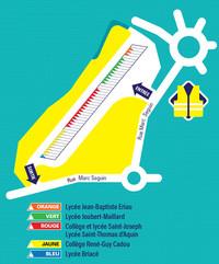 Plan d'organisation de la Gare Routière Ancenis Nord