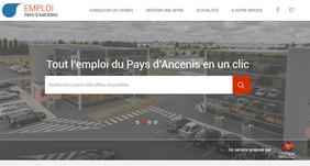 page d'accueil du Site internet emploi.pays-ancenis.com