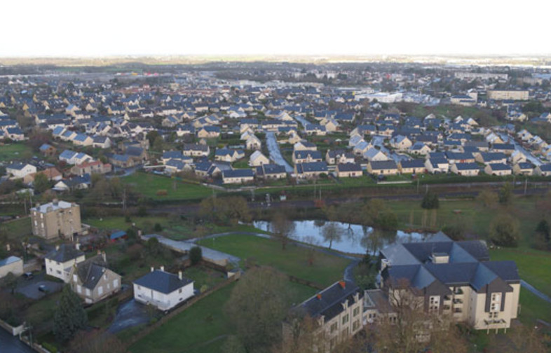 Ancenis et Saint-Géréon, vues du ciel