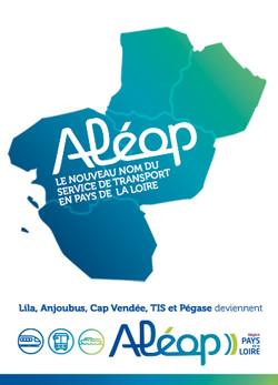 Lila et Anjoubus deviennent Aléop, Le nouveau nom du service de transport en Pays de la Loire