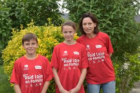 Sonia et ses deux enfants, Yanis et Romane