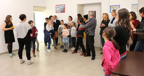 Les familles du défi Familles à énergie postive réunies à la COMPA