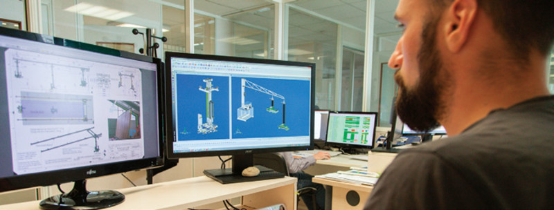 Conception du dessin en 3D avant lancement en fabrication.