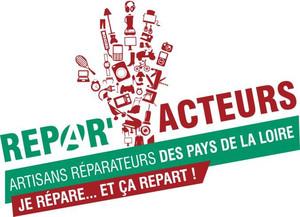 Logo Répar'Acteurs, artisans réparateurs des Pays de la Loire, Je répare et ça repart !