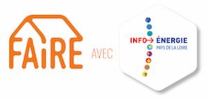 Logo Faire avec Espace Info Énergie des Pays de la Loire