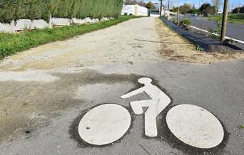La nouvelle piste cyclable de Riaillé