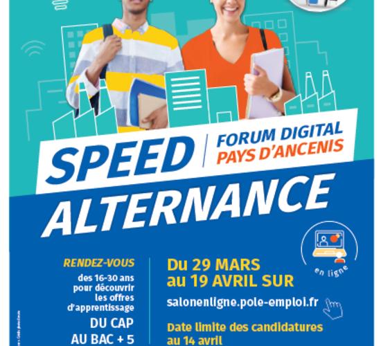 affiche Forum digital Speed alternance du Pays d'Ancenis 2021
