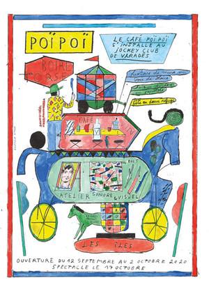 affiche Le café Poïpoï s'installe au Jockey Club