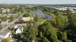 Vue aérienne d'un village du pays d'Ancenis
