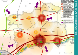Carte de géolocalisaion des pôles urbains locaux du Pays d'Ancenis