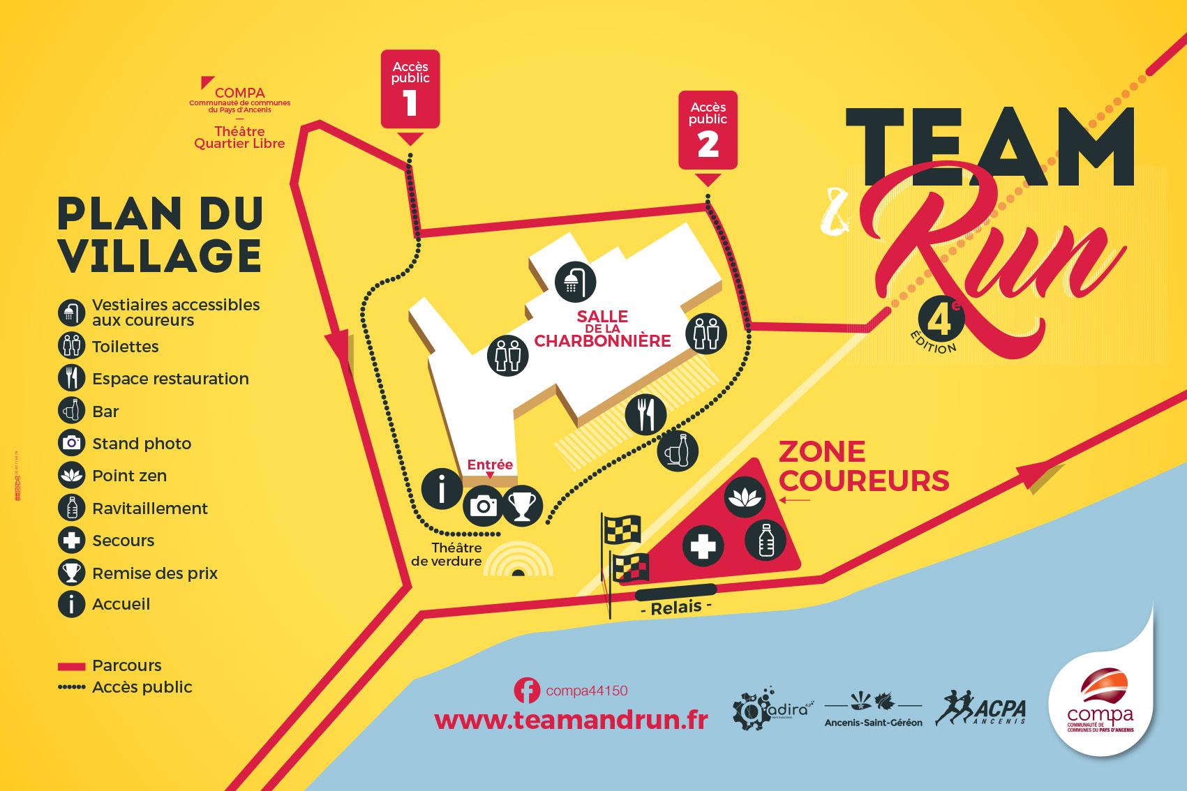 Le plan du village Team & Run 2019