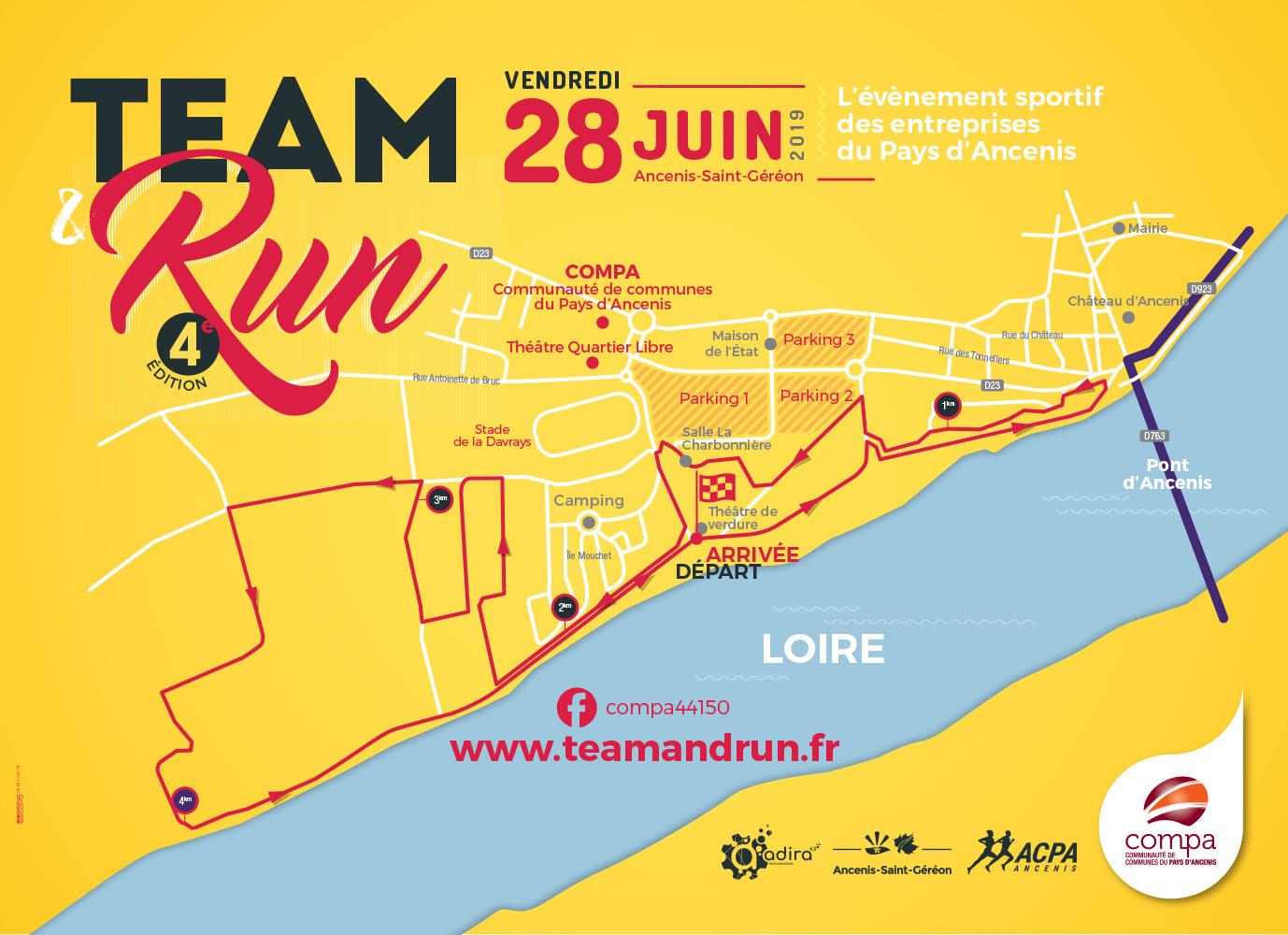 parcours Team&Run 2019