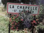 Panneau d'entrée de La Chapelle-Saint-Sauveur