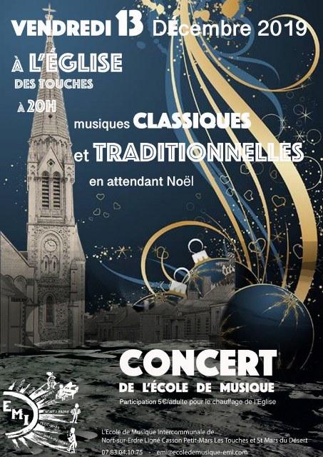 Prochain concert de l'école de musique associative intercommunale