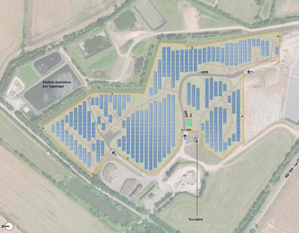 Plan de masse paysager de la centrale solaire photovoltaïque URBA 230